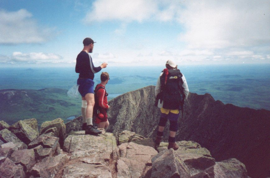 Tim, Rick and Dann on the Summit of Katahdin