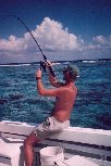 Shark fishing off the reef in Belize