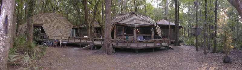 I always stay in the TREEHOUSES here; the Hostel in the Forest!; on 100 acres in the Georgia rainforest!